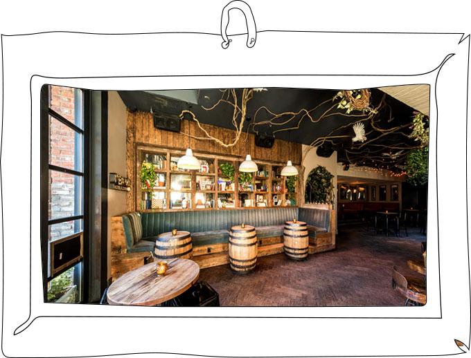 Common Ground Bar Interior Barrel Tables