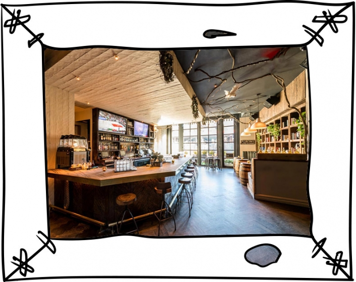 Common Ground Bar Interior Framed